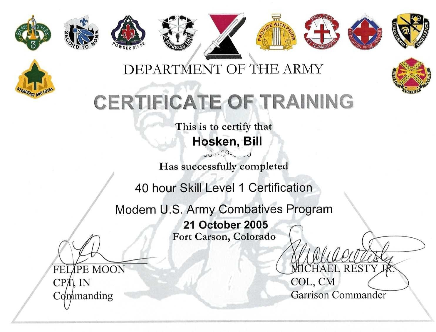 Wrestling Certificate Template